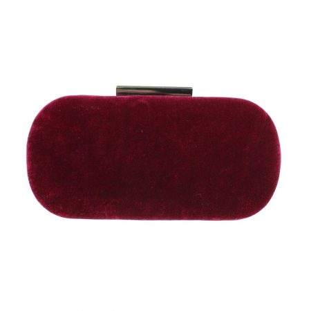 Lunar Celeste Burgundy Velvet Evening Bag