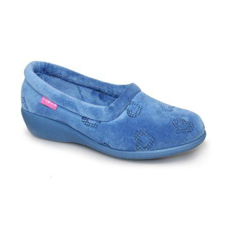 Lunar Charm Blue Wedge Full Slippers