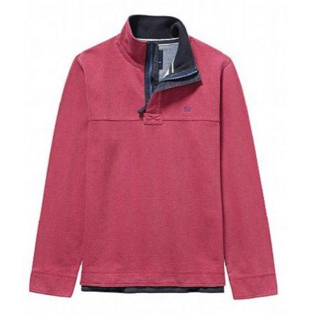 Crew Clothing Padstow Sweatshirt - Washed Cherry
