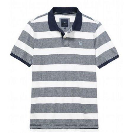 crew clothing navy striped polo