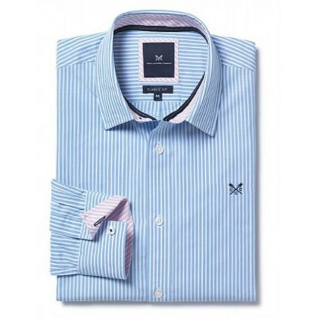 Crew Clothing Blue Stripe Shirt