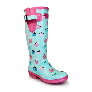 Lunar Cupcake Knee High Wellington Boots