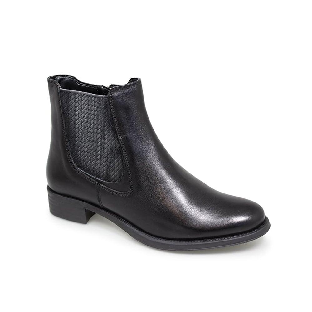 Lunar Deborah Black Leather Chelsea Boots