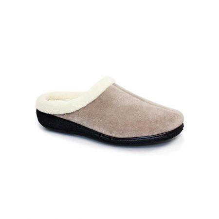 Lunar Doris Beige Mule Comfort Slippers