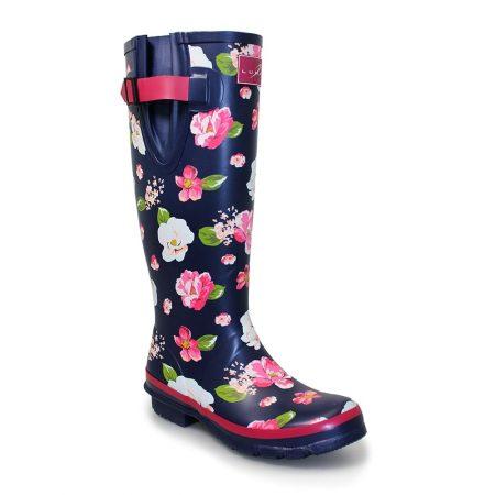 Lunar Garden Knee High Wellington Boots