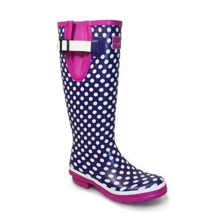 Lunar Polka Dot Knee High Wellington Boots