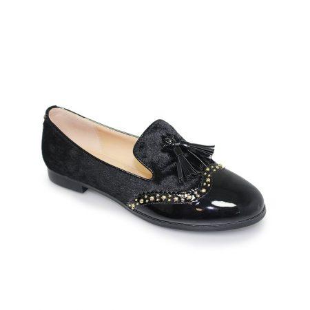 Lunar Felton Black Faux Fur Loafer Shoes