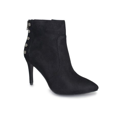 Lunar Harmony Black Heeled Ankle Boots
