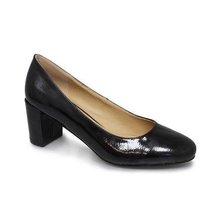 Lunar Hesta Black Patent Court Shoes