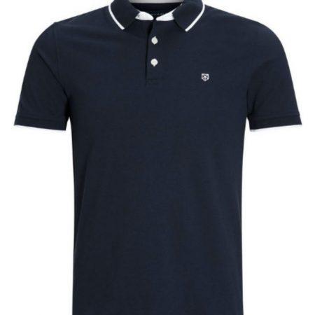Jack Jones Premium Navy polo shirt