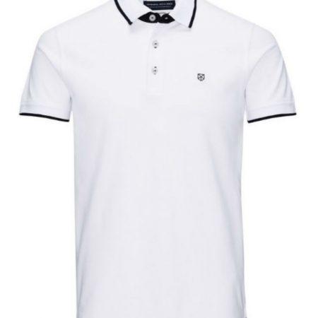 Jack Jones Premium White Polo Shirt