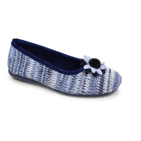 Lunar Luxor Blue Knitted Full Slippers