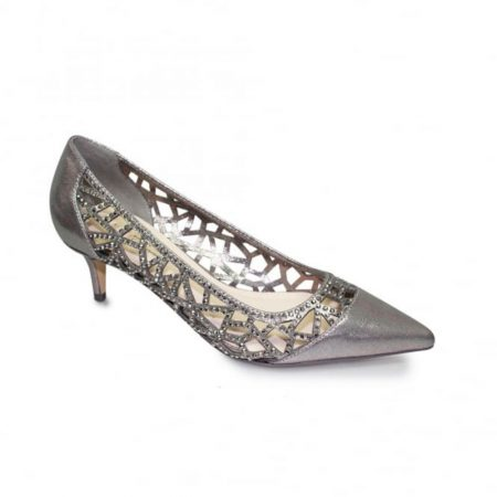 Lunar Lyra Pewter Kitten Heel Shoes