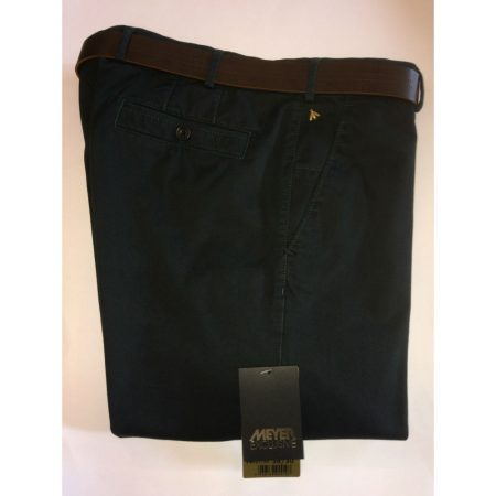 Meyer Exclusive Cotton Stretch New York Trouser - Green 8527/28
