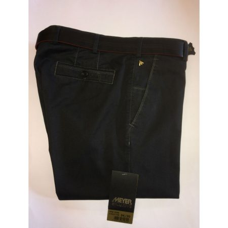 Meyer Exclusive Cotton Stretch New York Trouser - Grey 8527/08