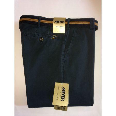 Meyer Rio Navy Cotton Stretch Trouser