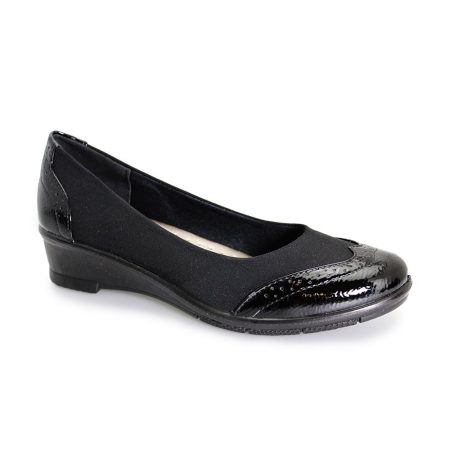 Lunar Comfort Natasha Black Wedge Shoes