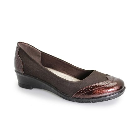 Lunar Comfort Natasha Brown Wedge Shoes