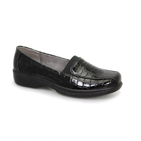 Lunar Comfort Nieve Black Patent Shoes