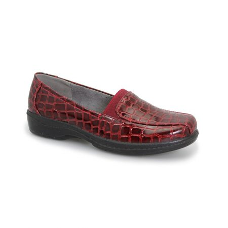 Lunar Comfort Nieve Burgundy Patent Shoes
