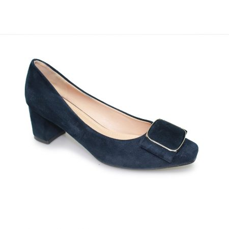 Lunar Remi Navy Micro Fibre Court Shoes