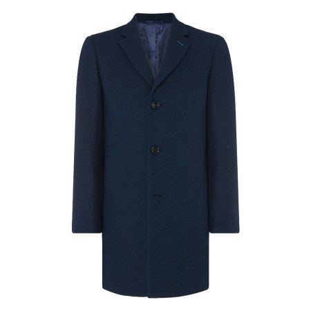 Remus Uomo Blue Reuben Tailored Coat