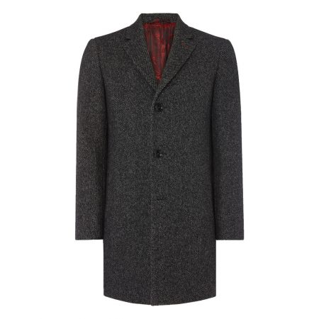 Remus Uomo Grey Reuben Tailored Coat