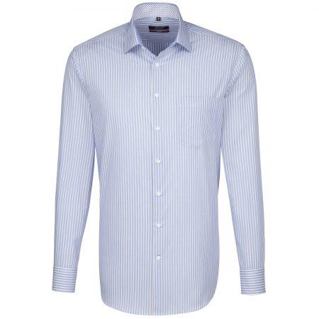 Seidensticker Light Blue Striped Shirt