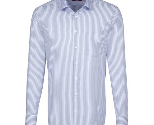 Seidensticker Light Blue Striped Shirt