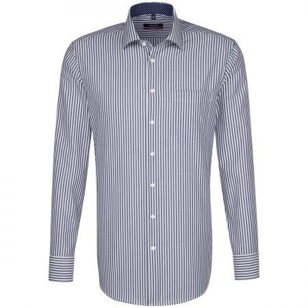 Seidensticker Dark Blue Striped Shirt