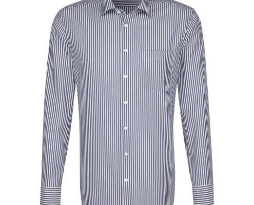 Seidensticker Dark Blue Striped Shirt