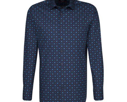 Seidensticker Navy Turquoise Shirt