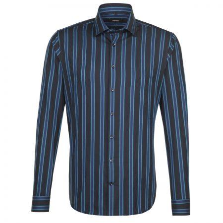 Seidensticker Black Multi Striped Shirt