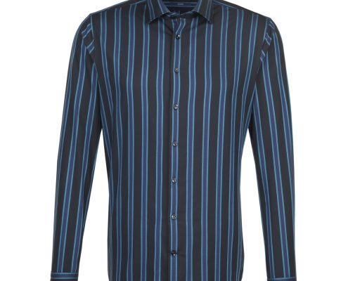 Seidensticker Black Multi Striped Shirt