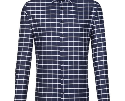 Seidensticker Navy White Check Shirt