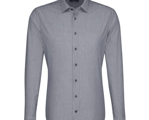 Seidensticker Grey Multi Striped Shirt