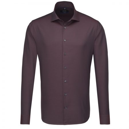 Seidensticker Burgundy Tailored Fit Shirt