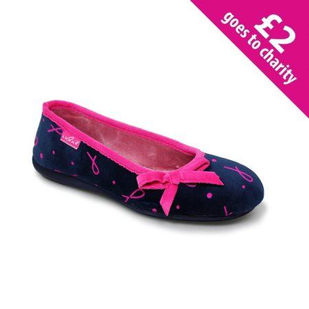 Lunar Shine Navy Charity Full Slippers
