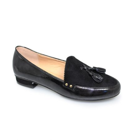 Lunar Swerve Black Patent Loafer Shoes