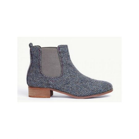 Ness Denim Tweed Chelsea Ankle Boots