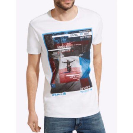 Wrangler Rollin White Casual T Shirt