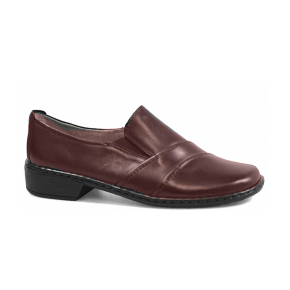 Burgundy High Heel Shoes Wide Fit
