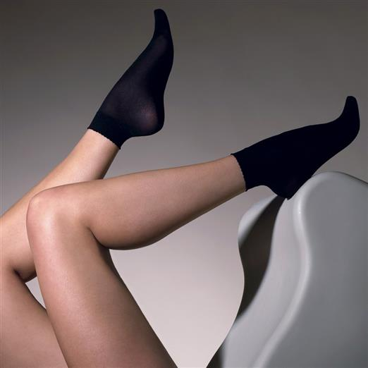 Gipsy Black Opaque Ankle High Socks