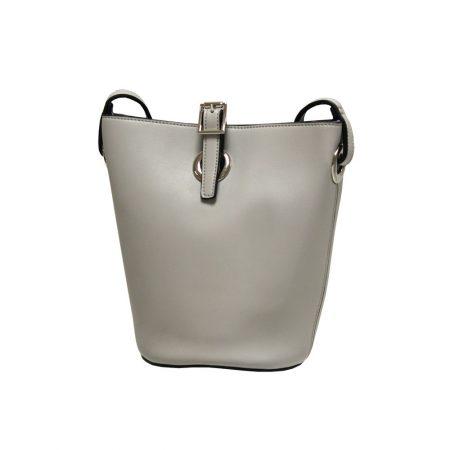 Envy Pale Grey Small Bucket Shoulder Bag