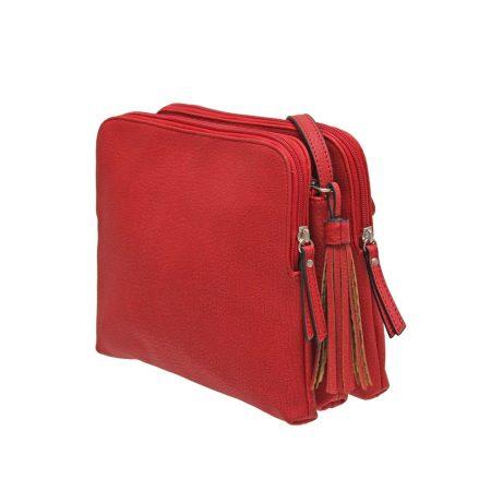 Envy Red Small Segmented Shoulder Bag