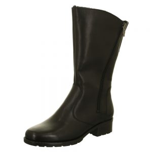 Ara Liverpool Black Leather Mid Calf Boots