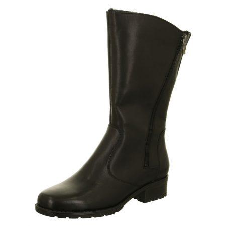 Ara Liverpool Black Leather Mid Calf Boots