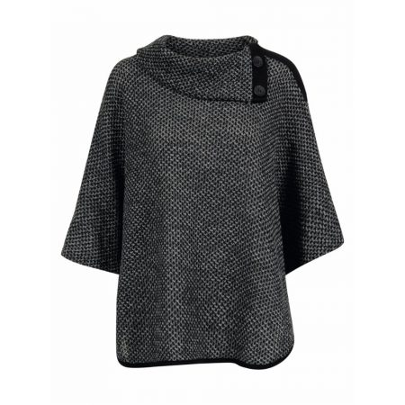 Signature Grey Mix Casual Poncho