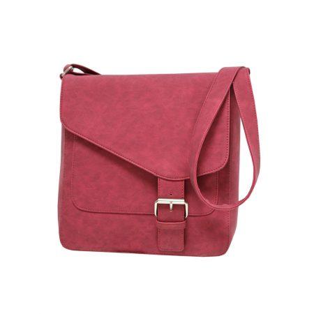 Envy Red Nubuck Effect Shoulder Bag