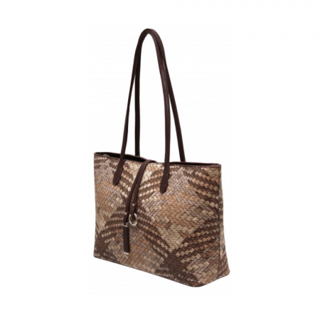 Envy Multi Brown Woven Shoulder Bag